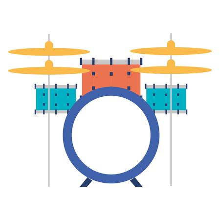 배터리 드럼 악기 벡터 일러스트 디자인 일러스트