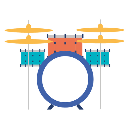 battery drums musical instrument vector illustration design Ilustrace