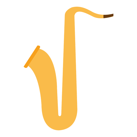 Saxophone musical instrument icon vector illustration design Illusztráció