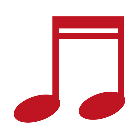 muzieknoot geïsoleerde pictogram vectorillustratieontwerp