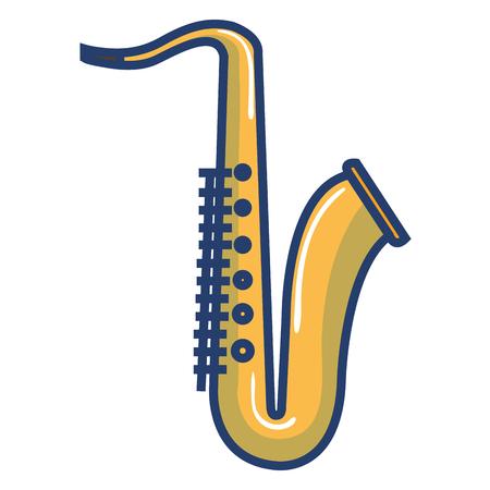 Progettazione dell'illustrazione di vettore dell'icona dello strumento musicale del sassofono Archivio Fotografico - 81138232