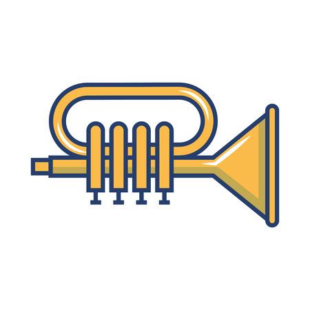 Tromba musicale strumento icona illustrazione vettoriale illustrazione Archivio Fotografico - 81138237