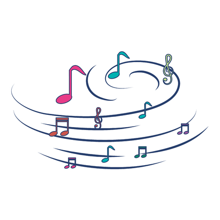 music notes pattern background vector illustration design
