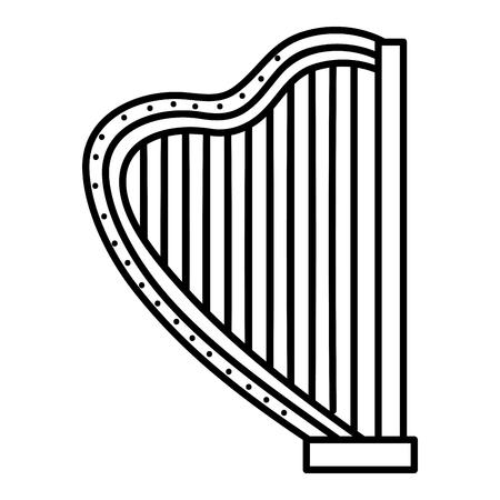 Harpe instrument de musique icône illustration vectorielle conception Banque d'images - 81131598
