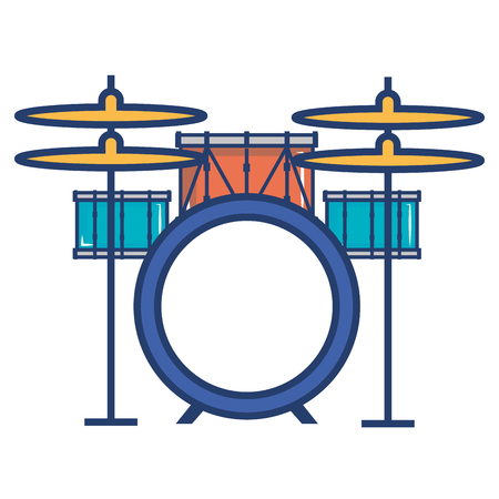 battery drums musical instrument vector illustration design Ilustração