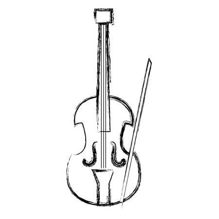 cello musical instrument icon vector illustration design Иллюстрация