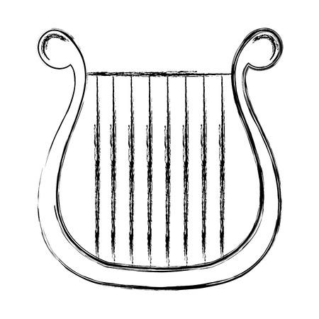 Harpe instrument de musique icône illustration vectorielle conception Banque d'images - 81138270