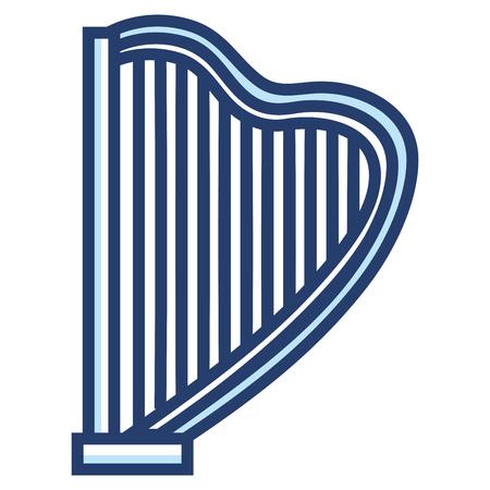 Harpe instrument de musique icône illustration vectorielle conception Banque d'images - 81138322
