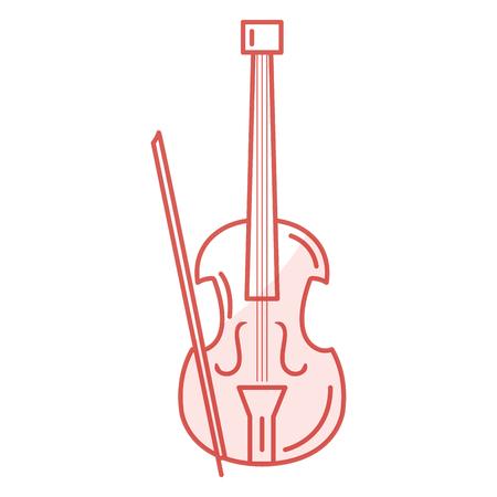 Illustrazione vettoriale illustrazione icona strumento musicale violoncello Archivio Fotografico - 81138325