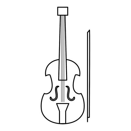 Illustrazione vettoriale illustrazione icona strumento musicale violoncello Archivio Fotografico - 81138332