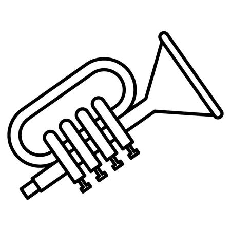 Tromba musicale strumento icona illustrazione vettoriale illustrazione Archivio Fotografico - 81138336