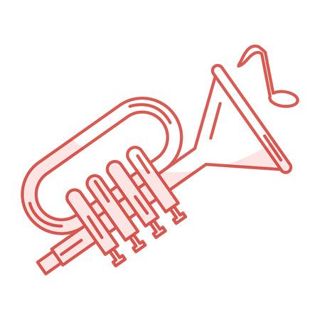 trumpet musical instrument icon vector illustration design