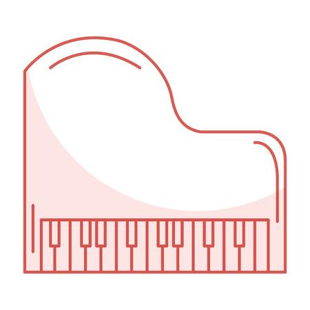 グランド ピアノ楽器音楽のベクトル イラスト デザイン  イラスト・ベクター素材