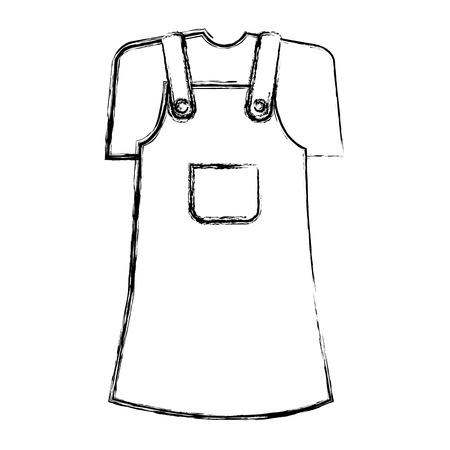 Leuk ontwerp van de het pictogram vectorillustratie van het meisjeskostuum