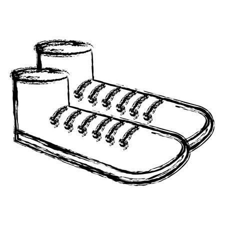 grandfather shoe isolated icon vector illustration design