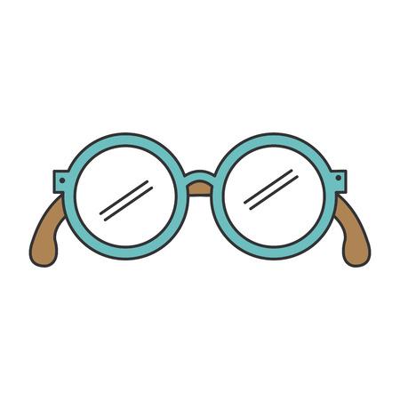Abuelos ojos gafas icono ilustración vectorial diseño Foto de archivo - 81131500
