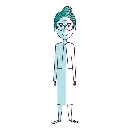 かわいい祖母アバター文字ベクトル イラスト デザイン  イラスト・ベクター素材