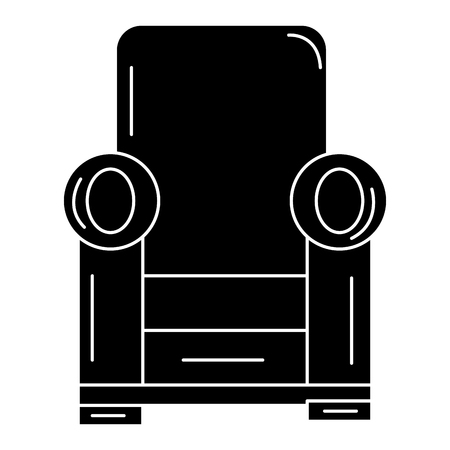 Comfortable couch isolated icon