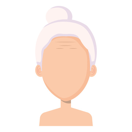 cute grandmother shirtless avatar character vector illustration design Illusztráció