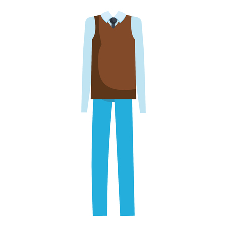 Grandfather dress outfit icon vector illustration design