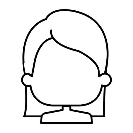 cute little girl shirtless character vector illustration design Ilustrace