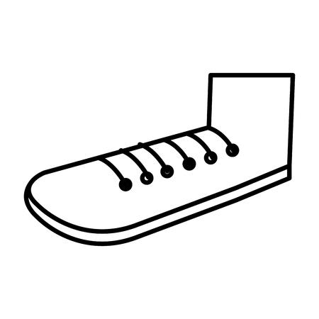 Grootvader schoen geïsoleerd pictogram vector illustratie ontwerp