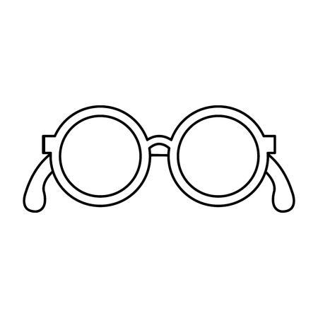 grootouders oogglazen pictogram vector illustratie ontwerp