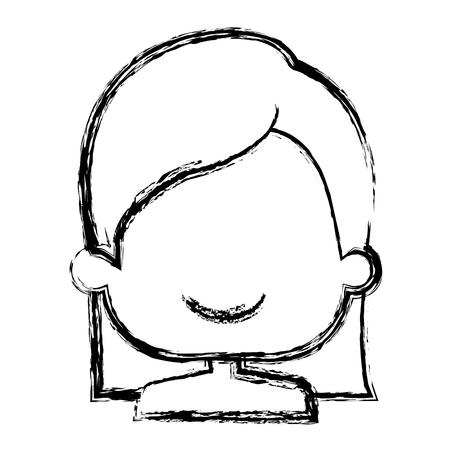 cute little girl shirtless character vector illustration design Illustration