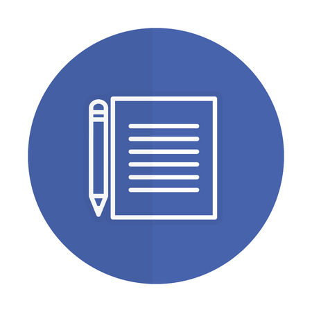 document with pencil isolated iconvector illustration design
