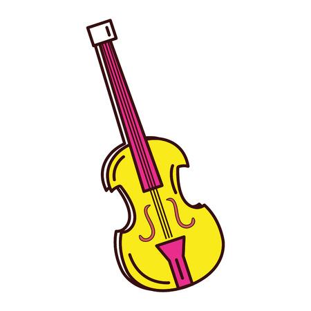 Illustrazione vettoriale illustrazione icona strumento musicale violoncello Archivio Fotografico - 81141775