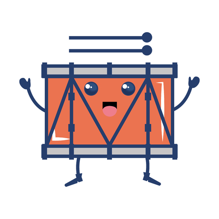 band drum musical instrument kawaii character vector illustration design Illustration