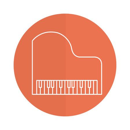 grand piano instrument musical vector illustration design 矢量图像