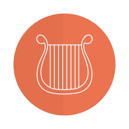 harp musical instrument icon vector illustration design