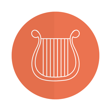 harp musical instrument icon vector illustration design