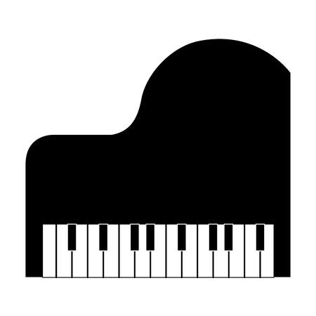 grand piano instrument musical vector illustration design Vettoriali