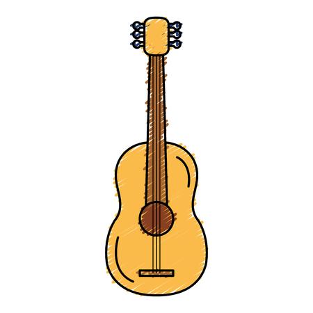 ギター楽器アイコン ベクトル イラスト デザインを分離しました。