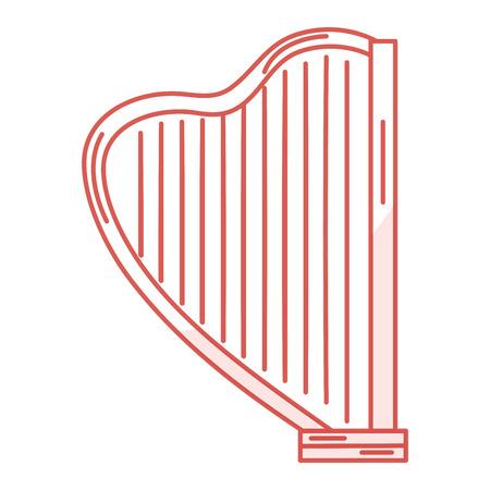Instrument de musique harpe icône illustration vectorielle design Banque d'images - 81139286