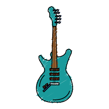 electric guitar instrument isolated icon vector illustration design