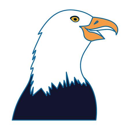 흰색 배경 위에 독수리 아이콘 화려한 디자인 벡터 일러스트 레이 션