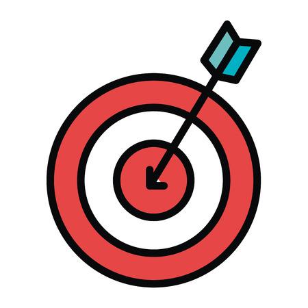 effectiveness: target with arrow icon vector illustration design Illustration