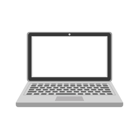 laptop computer icon over white background colorful design vector illustration Reklamní fotografie - 81140139
