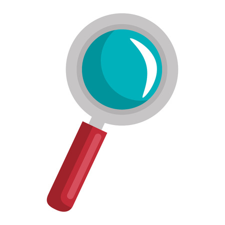 Icône de loupe sur illustration vectorielle de fond blanc design coloré