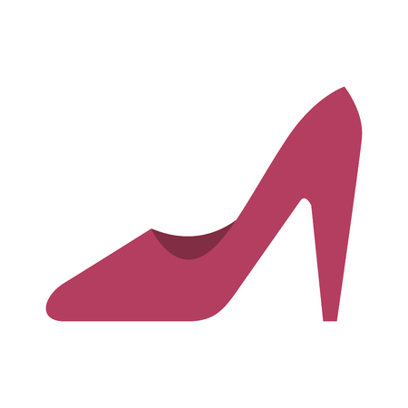 high heel shoes icon over white background colorful design vector illustration Imagens - 81140150