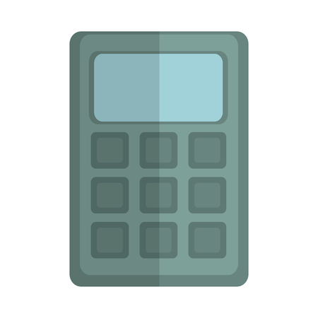 calculator icon over white background colorful design vector illustration Çizim