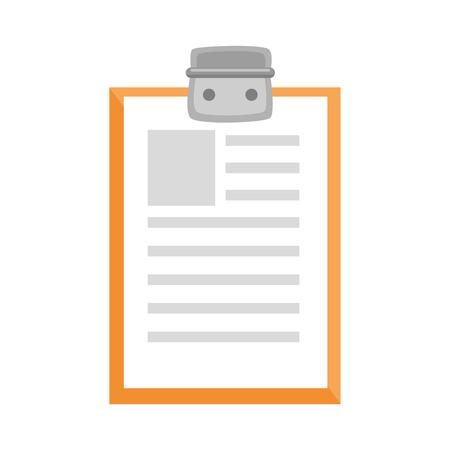 Rapport tabel icoon over witte achtergrond kleurrijke ontwerp vector illustratie Stockfoto - 81140187