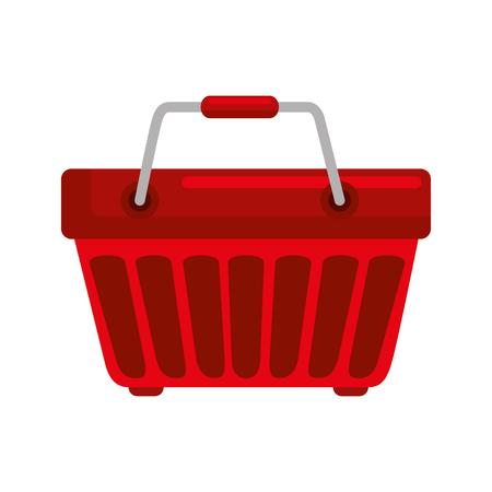 winkelmandje pictogram over witte achtergrond kleurrijk ontwerp vectorillustratie