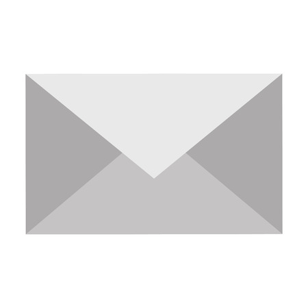 envelope icon over white background vector illustration
