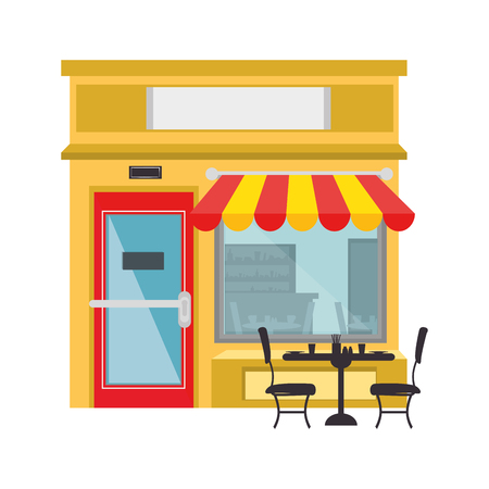 businessperson: store icon over white background colorful design vector illustration