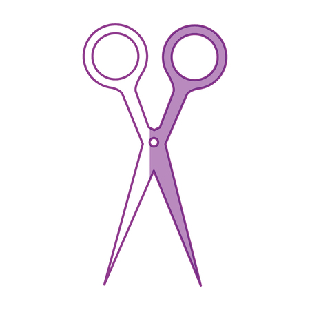 白い背景のベクトル図で髪はさみアイコン  イラスト・ベクター素材