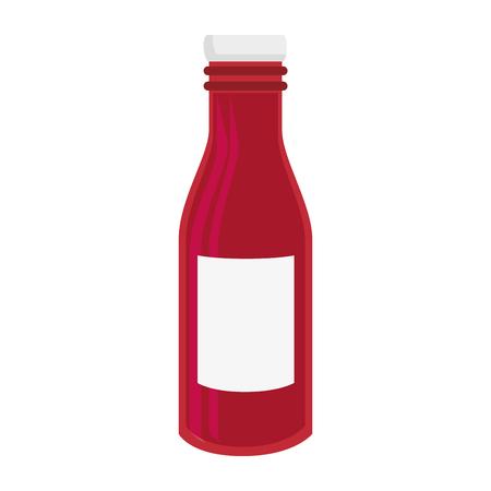 ketchup bottle icon over white background colorful design vector illustration Illustration